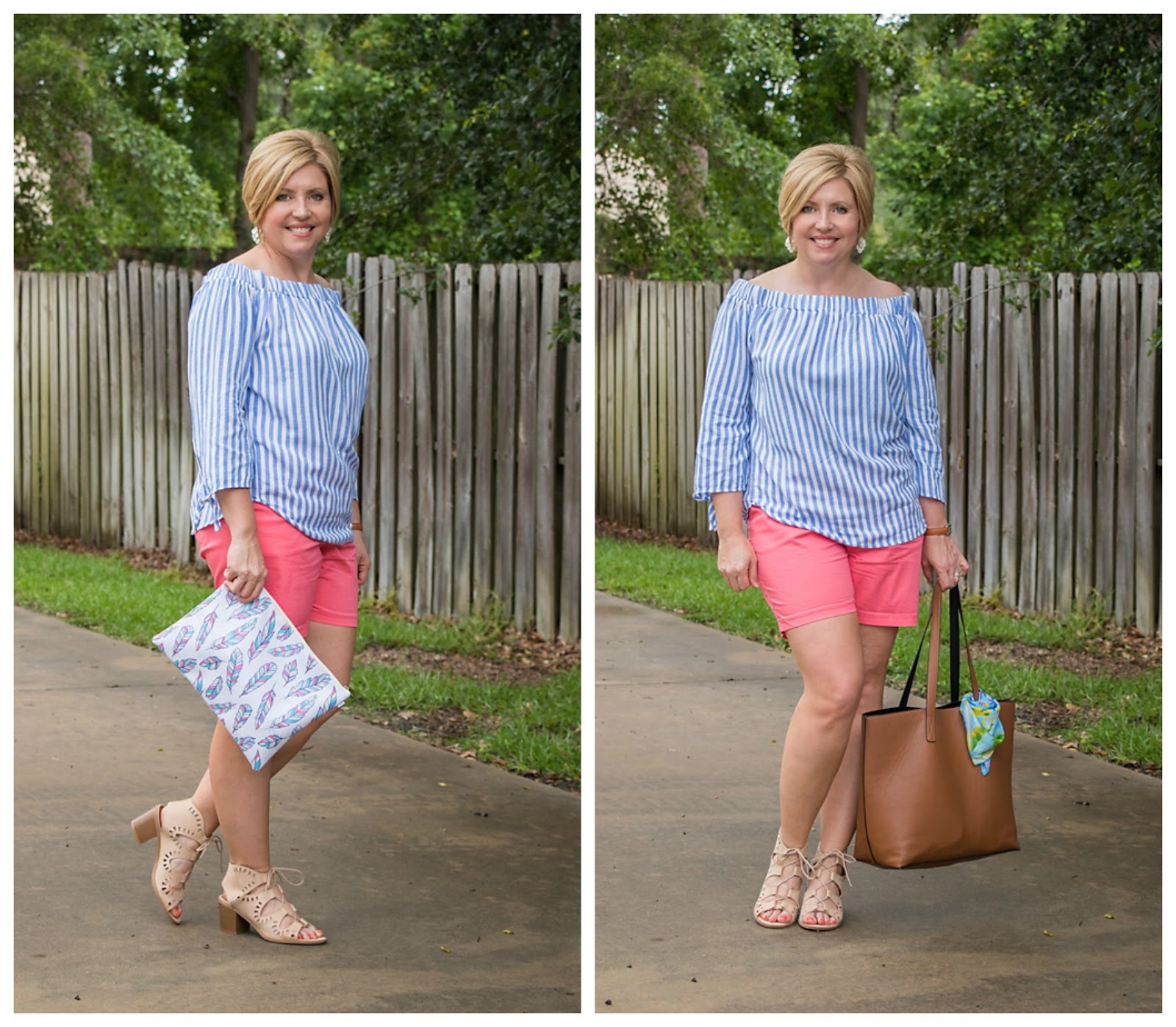one outfit with two bags