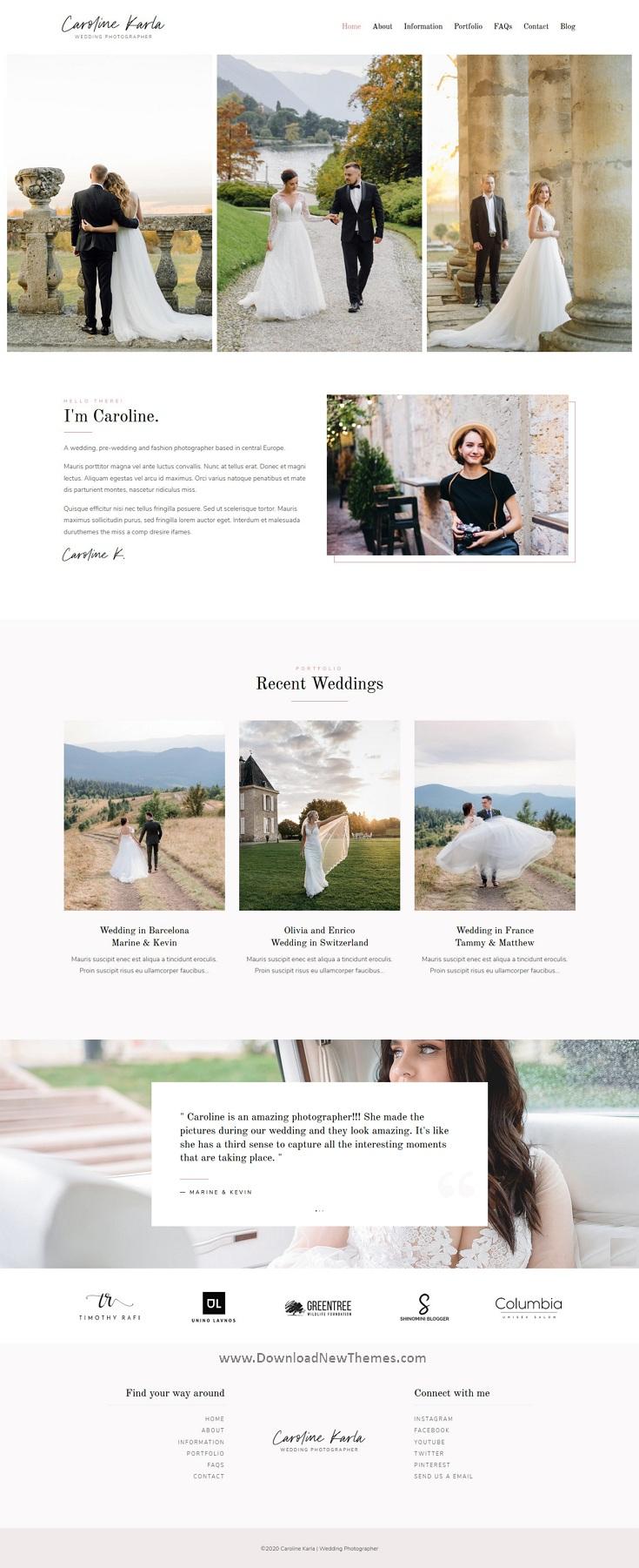 Minimal Wedding Photography Template