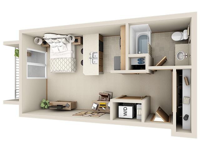 apartemen kecil tipe studio