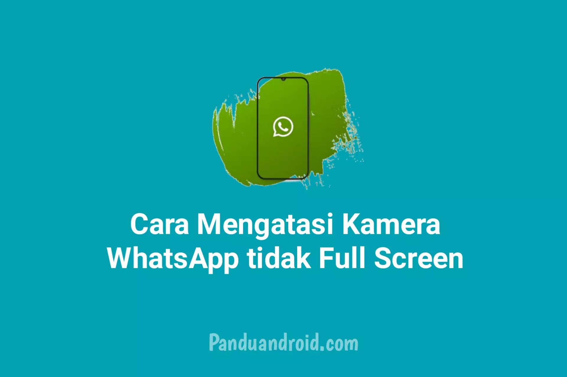 Solusi Mengatasi Permasalahan Kamera WhatsApp tidak Full Screen