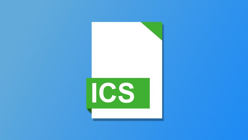 Open ICS file - this is how it works