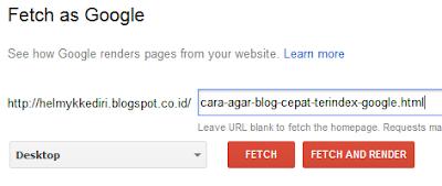 Cara Agar Blog Cepat Terindex Google