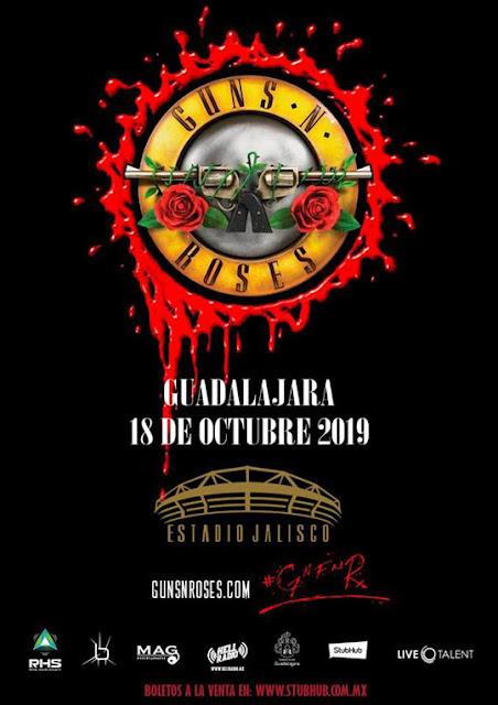 boletos guns and roses 2019 guadalajara