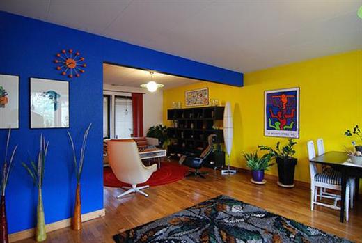 Kombinasi Warna Biru dan Kuning untuk Interior Rumah