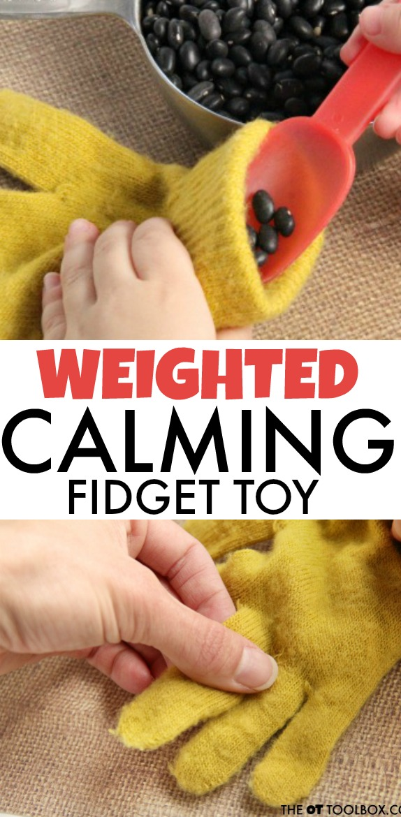 Weighted fidget toy for helping kids pay attention and focus in the classroom