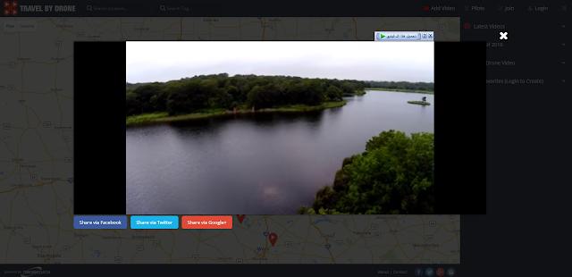 موقع لمشاهدة جميع الفيديوهات حول العالم التي التقطت من السماء بواسطة طائرات الدرونز