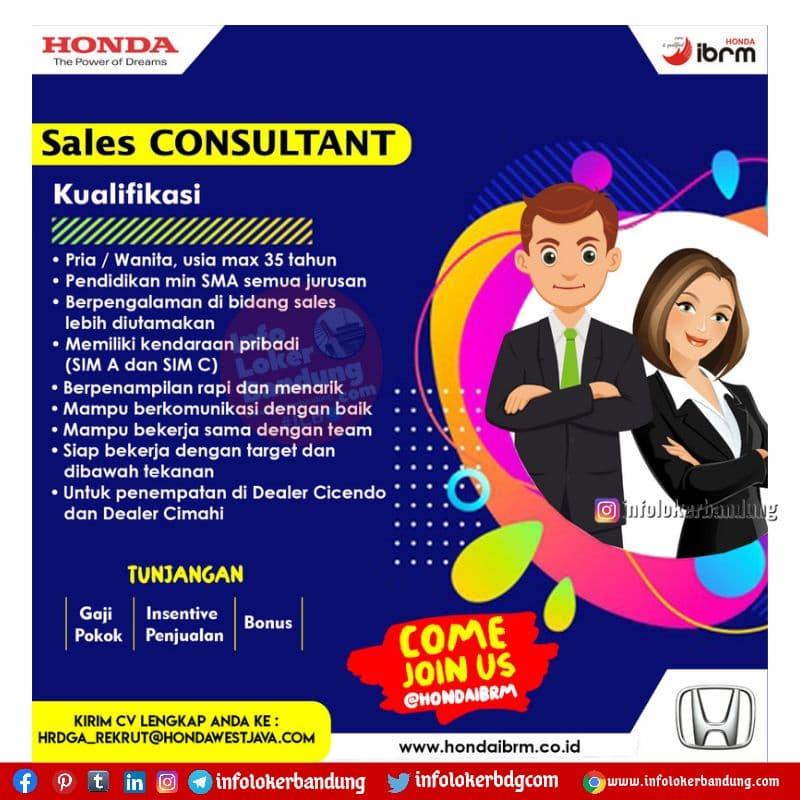 Lowongan Kerja Honda IBRM Bandung & Cimahi Juni 2021