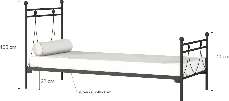 Łóżko metalowe Luizjana (wzór 37) (80-90 cm)