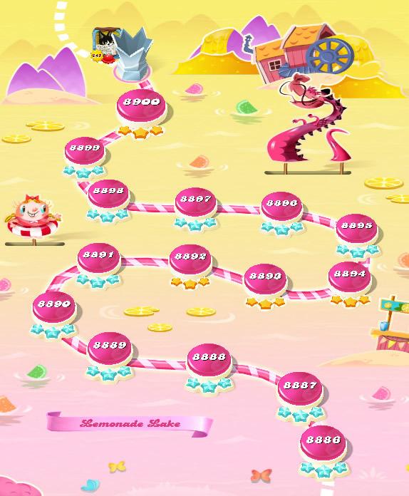 Candy Crush Saga level 8886-8900