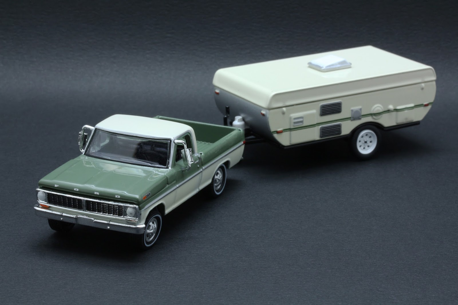 Diecast Hobbist: 1970 Ford F-100 and Pop-Up Camper Trailer