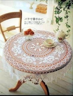 Tablecloth – filet crochet