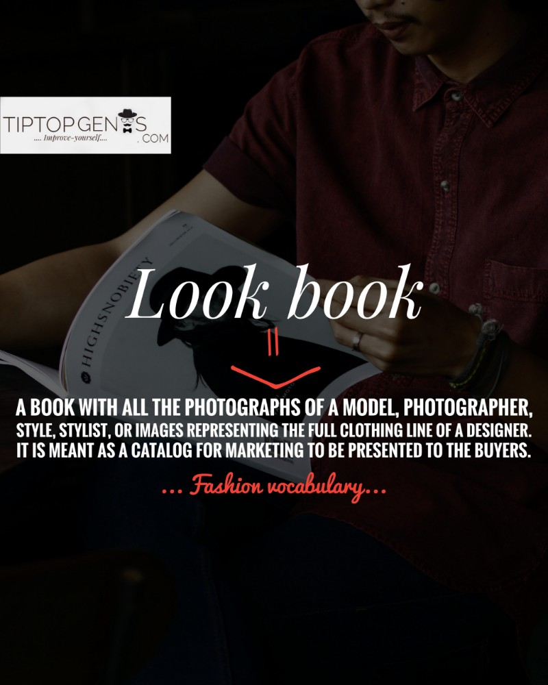 Look book meaning in fashion industry.