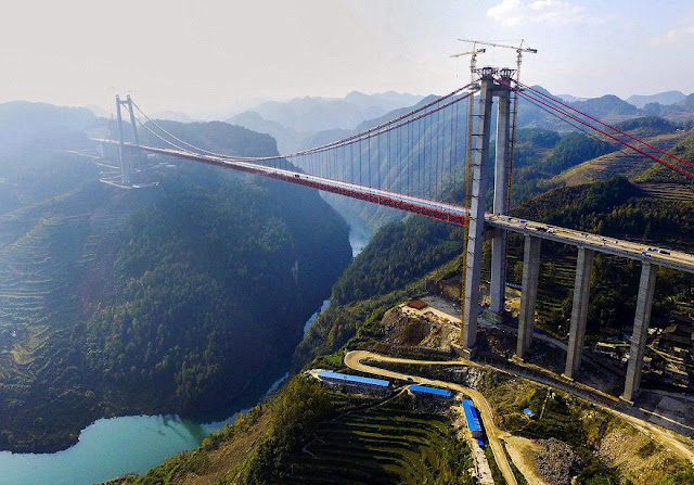 ONE OF THE WORLD'S TALLEST BRIDGES BUILT BY CHINA