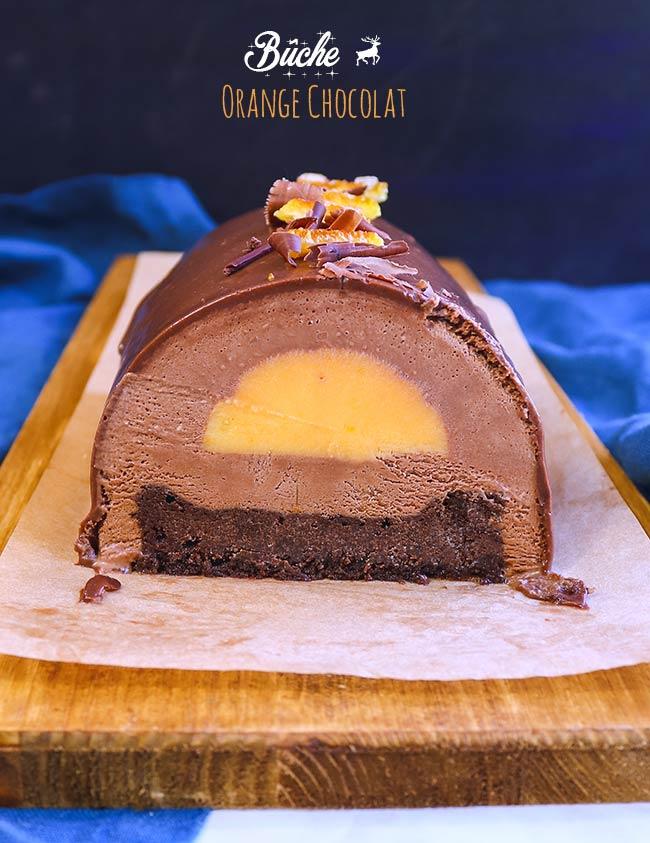 recette buche chocolat orange