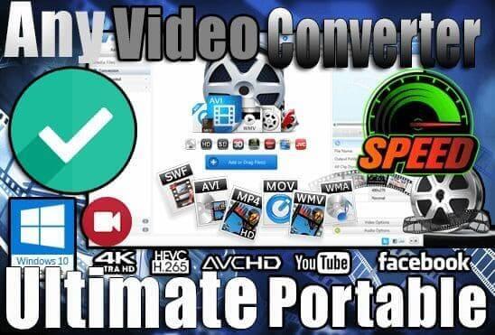 تحميل برنامج Any Video Converter Ultimate Portable نسخة محمولة مفعلة اخر اصدار