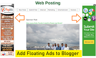 How to add Floating Skyscraper Ads widget to Blogger