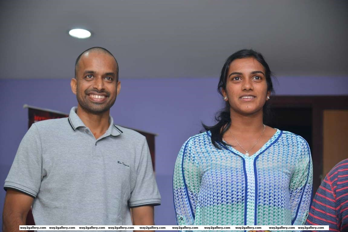 Pullela Gopichand and PV Sindhu attended the special screening of Telugu film Janatha Garage