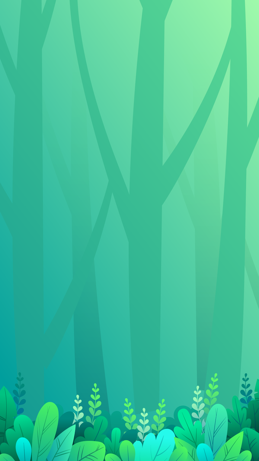 simple clean mobile green background forest trees