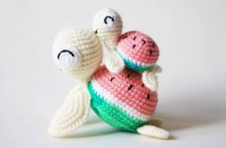 watermelon turtle crochet pattern