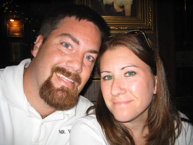 a photo of David Brodosi and his wife in London