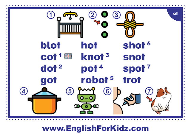 ot family words - printable flashcard with pictures