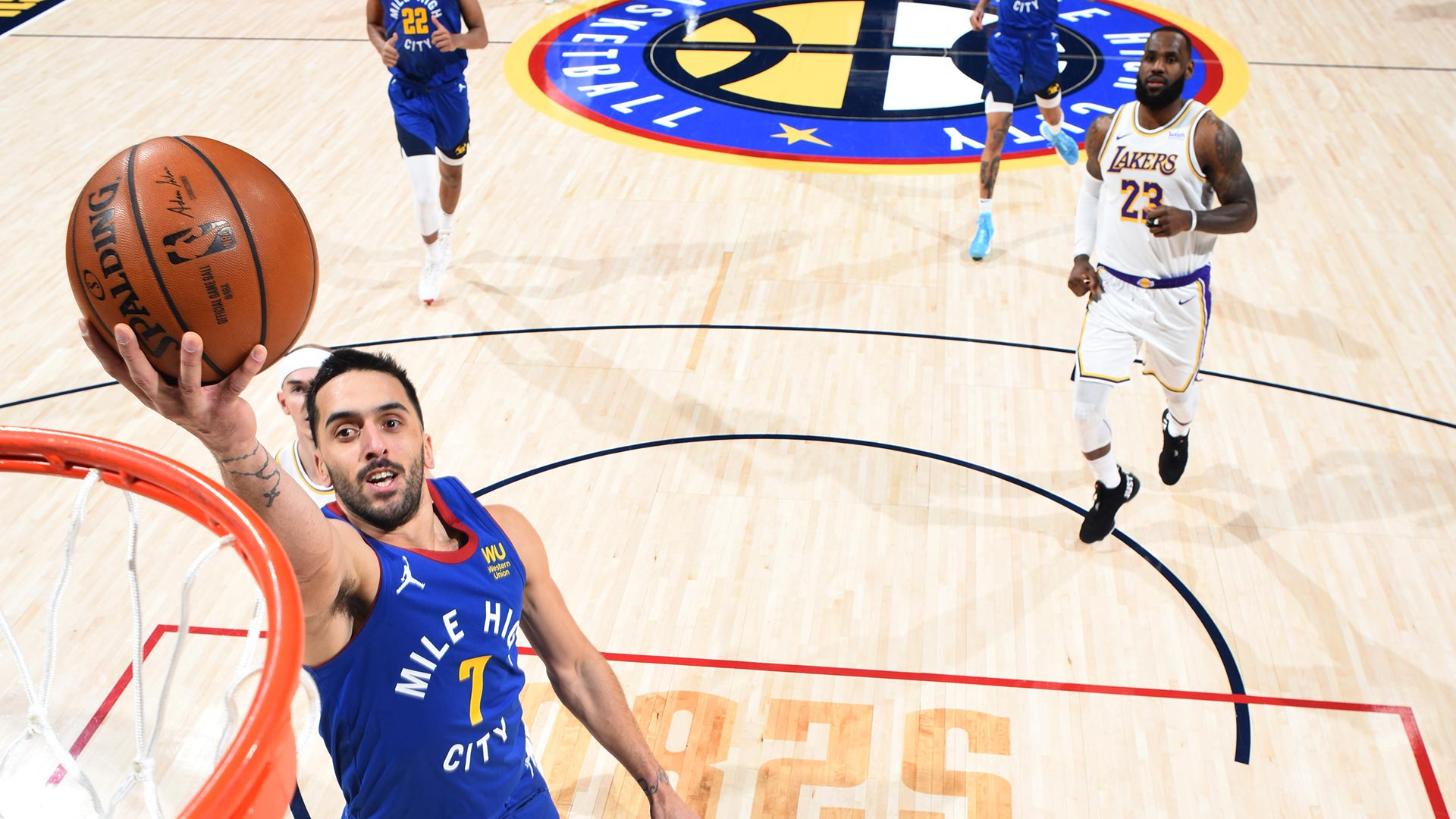 Con otra gran noche de Campazzo, Denver Nuggets derrotó a Los Angeles Lakers