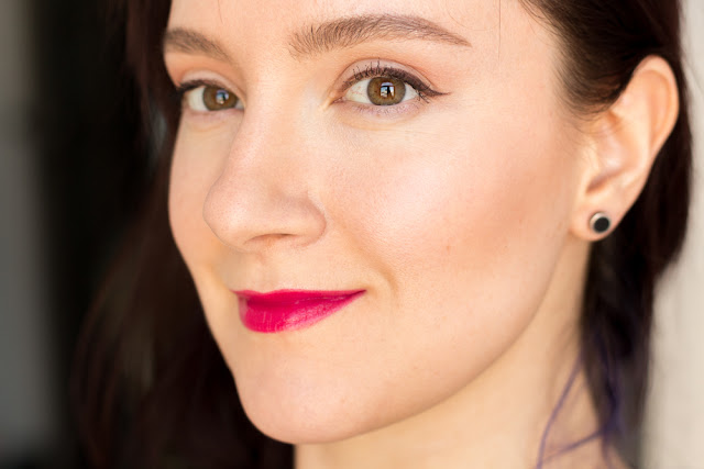 Givenchy Rouge Interdit 23 Fuschia-in-the-Know свотчи