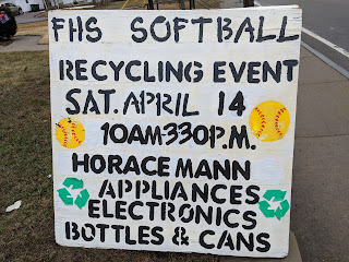 Recycling event for FHS Softball - Apr 14