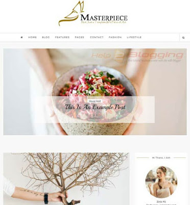 MasterPiece Responsive, Clean, Girly, Simple design For Business, Photography, Fashion, Lifestyle, Technology, Beautician blog etc Fixed slideshow Featured post slider Right Sidebar SEO Ready Post Thumbnails White color 2 Columns layout Premium designBlogger Template download