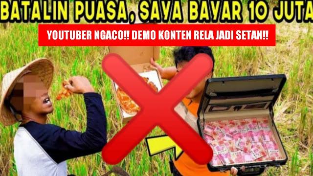 Ngaco! Youtuber Ini Tawarkan Rp 10 Juta Untuk Orang yang Mau Batalkan Puasa