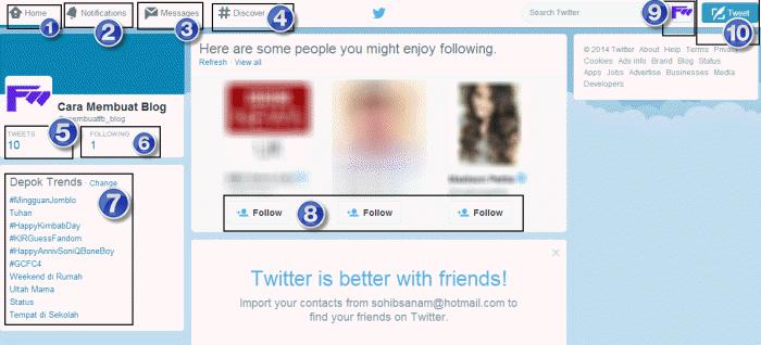 cara menggunakan twitter