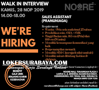 Walk In Interview di Noore Mall Tunjungan Plaza 1 Surabaya November 2019
