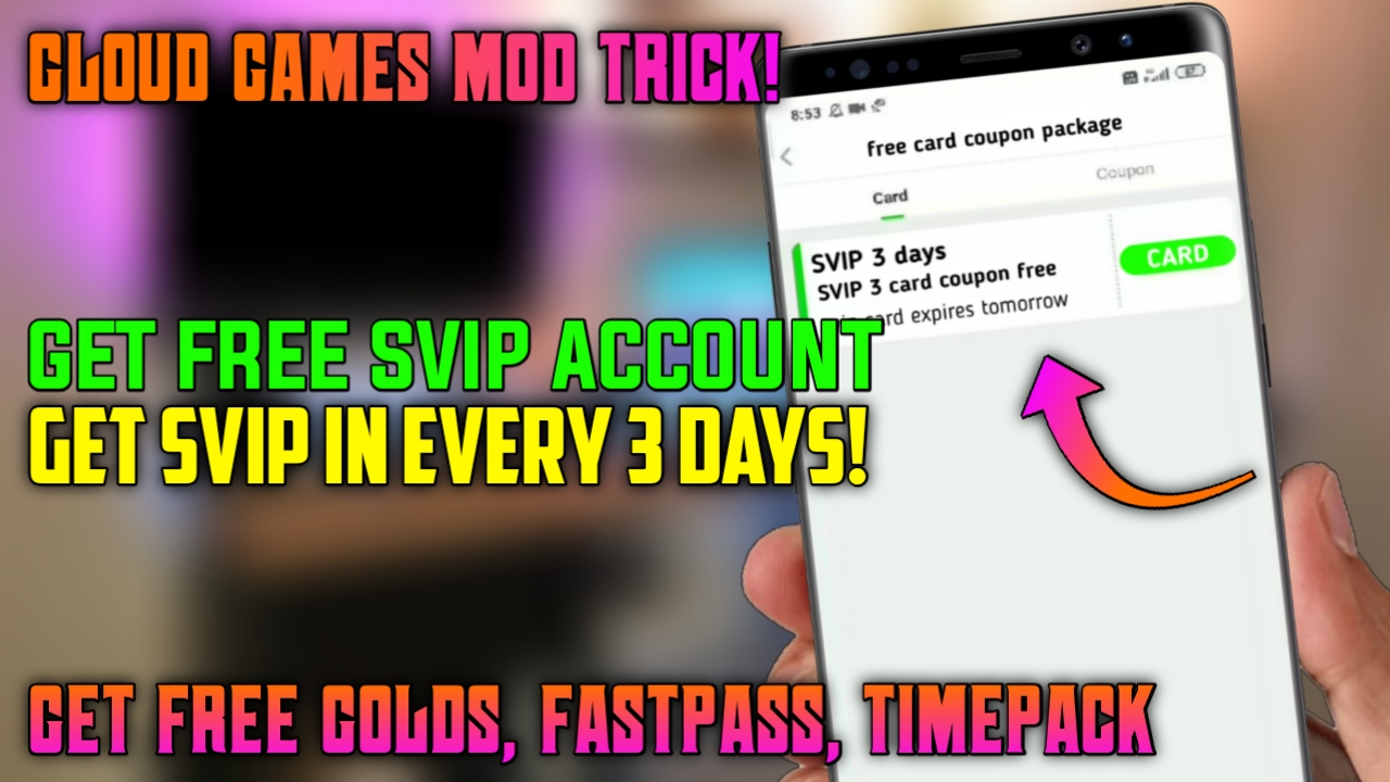 Get Free Svip Account In Gloud Games Get It For Free Get Unlimited Golds And Unlimited Time To Play Games 100 Working Method Gaming Rajat