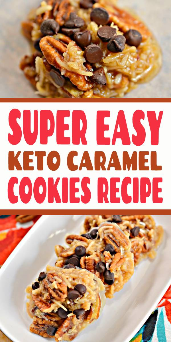 SUPER EASY Keto Caramel Cookies #keto #ketogenicdiet #ketodiet #lowcarb #glutenfree #cookies