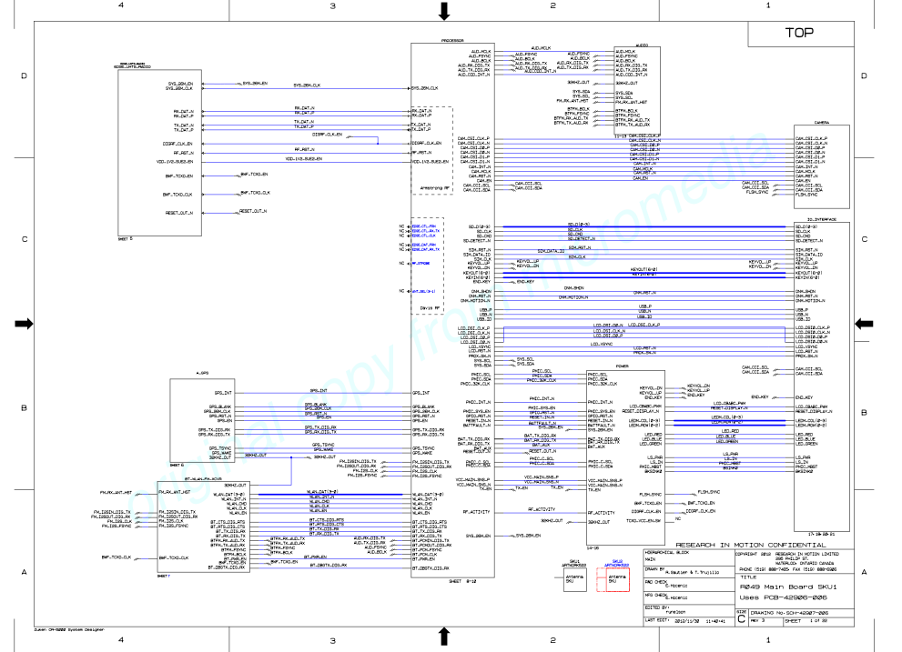 blackberry curve  schematics  phonelumi, schematic