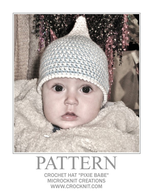 crochet patterns, hats, baby, toddler, pixie, elf,