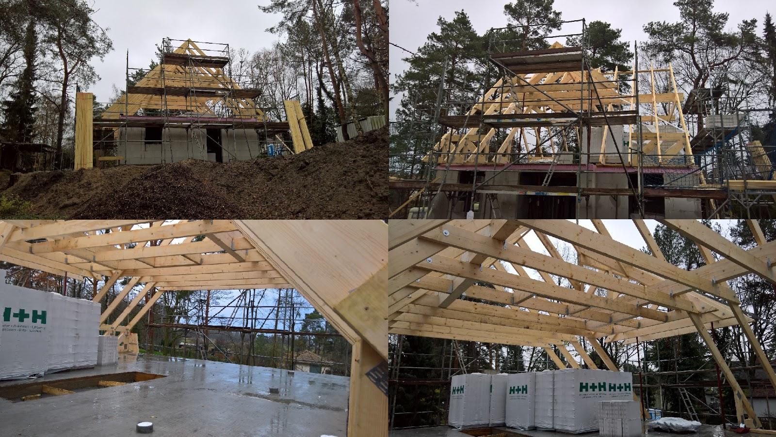 Hausbau in Mahlow: Das Haus nimmt Form an