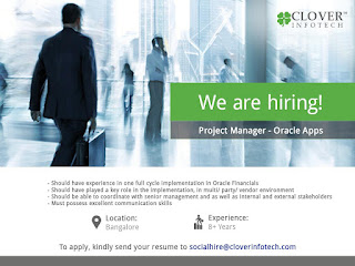 Clover Infotech Oracle APPS Project Mgr