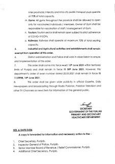 LOCKDOWN ORDER IN PUNJAB