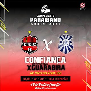 Confiança Esporte Clube de Sapé-PB faz o jogo de estréia  Paraibano Sub-19 edição 2021 contra a  Desportiva Guarabira na próxima quarta-feira às 15:00h