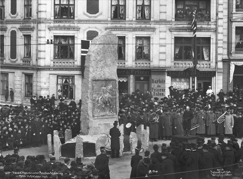 Inauguración del monumento a Harald Hardrada en Oslo en 1905