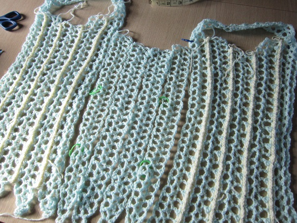 crochet, lace, top, panels