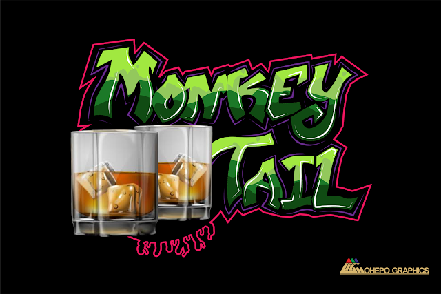 Monkey Tail Graffiti Digital Art Design