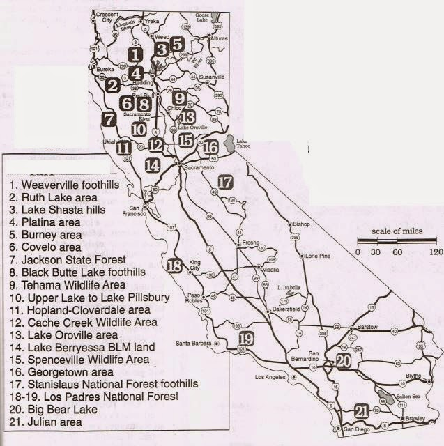 California Hunting Clubs for Turkey, deer, pig, quail, fishing with Hunting Maps.