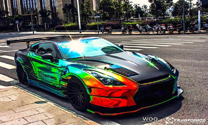 muscle car collection nissan godzilla gtr r35 colored rainbow. Black Bedroom Furniture Sets. Home Design Ideas