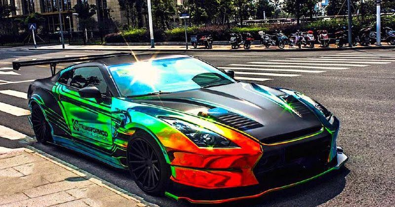 "Camaro 2017 Gt >> MUSCLE CAR COLLECTION : Nissan ""Godzilla"" GTR R35 Colored Rainbow"