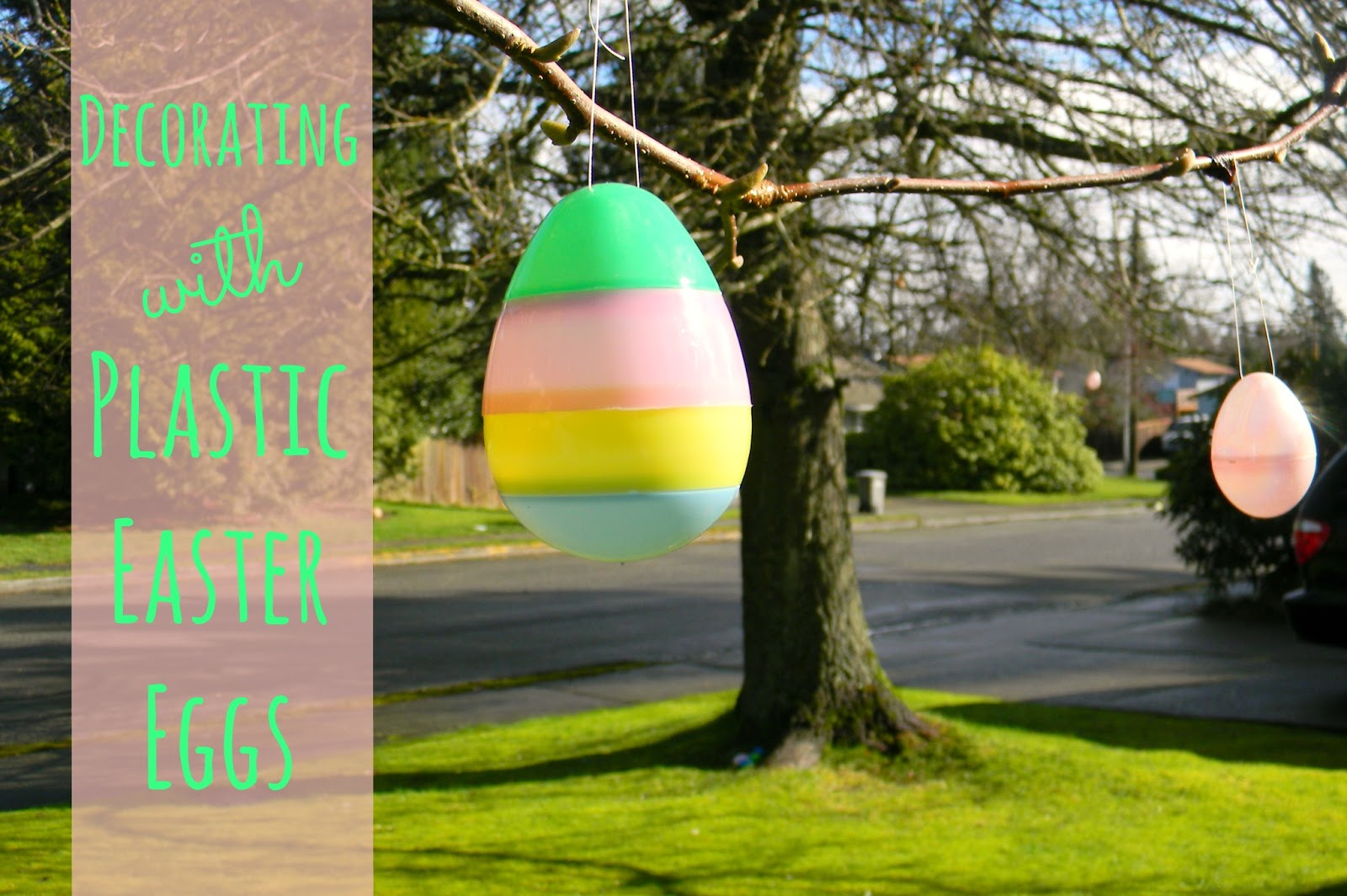 Eggs Large Easter Outdoor Plastic