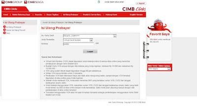 Virtual Credit Number CIMB Niaga