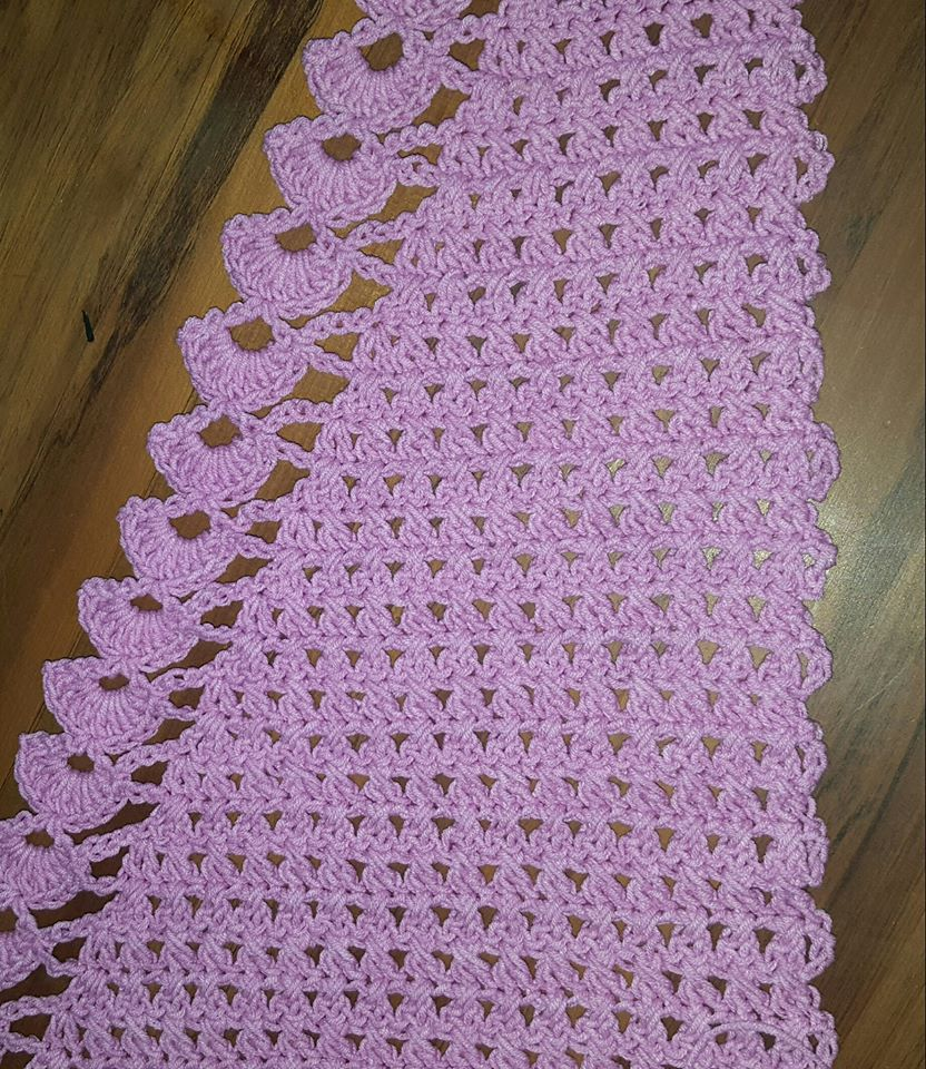 Sewme Crafts Crochet Baktus Scarf