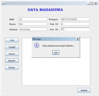 Kelas Informatika - Update Data Mahasiswa Metode Prepared Statement Berhasil